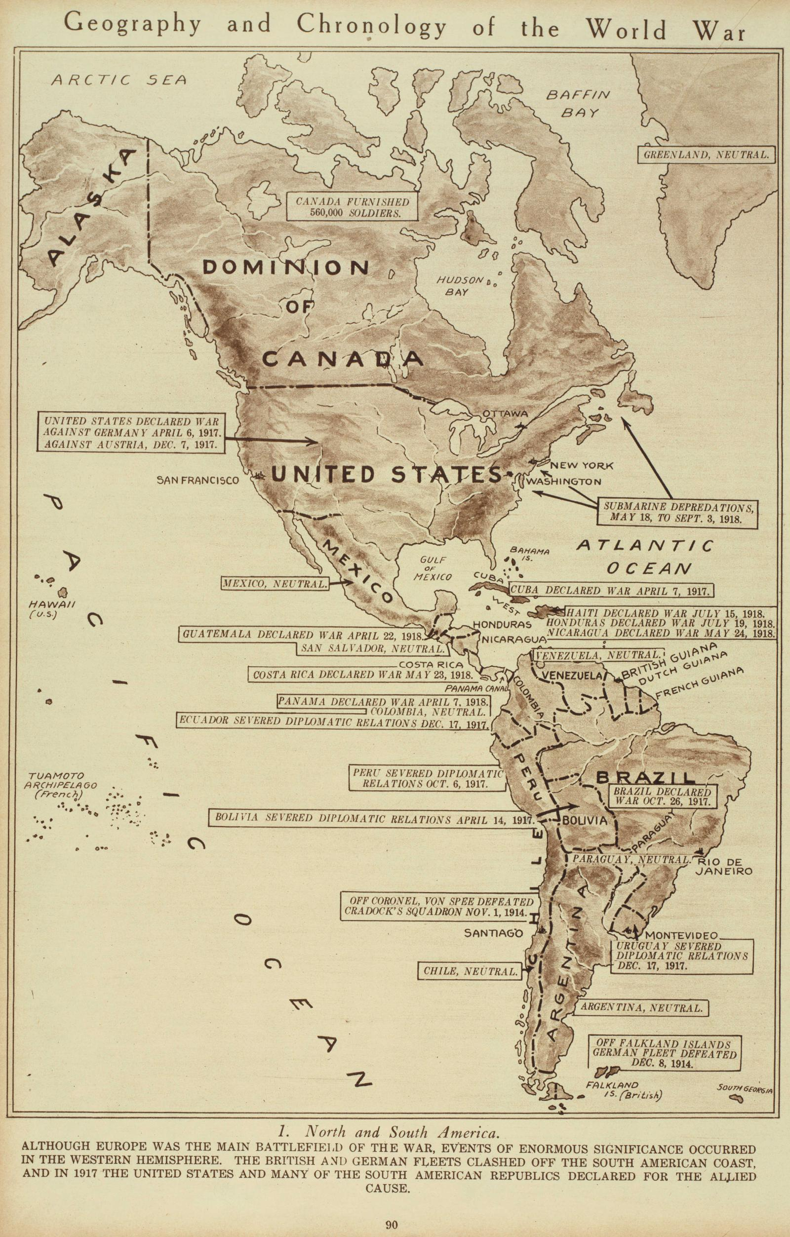 Maps Of WWI - 1917 1918 us in europe battles map