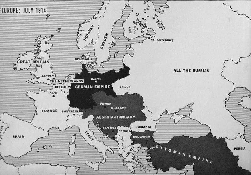 A Map Of Europe In 1914.Maps Of Wwi