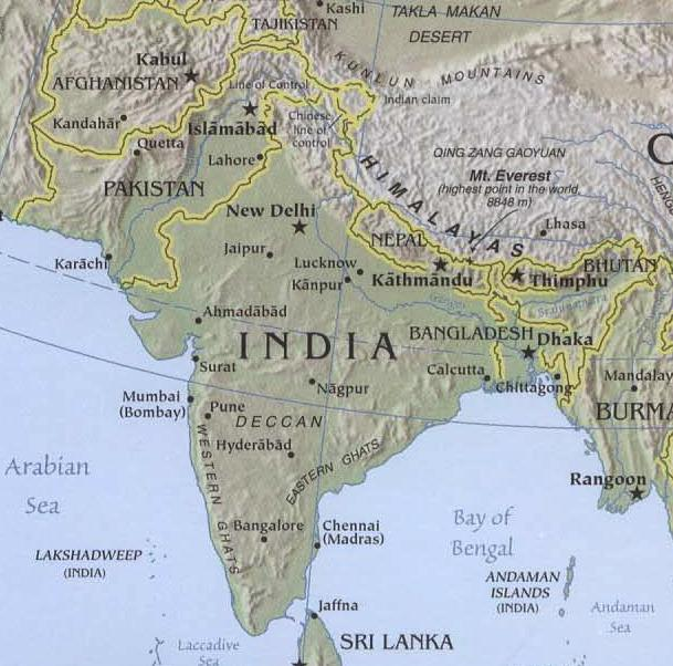South asia mountains map 100 images nepal map in asia map of south asia mountains map pakistan gumiabroncs Images