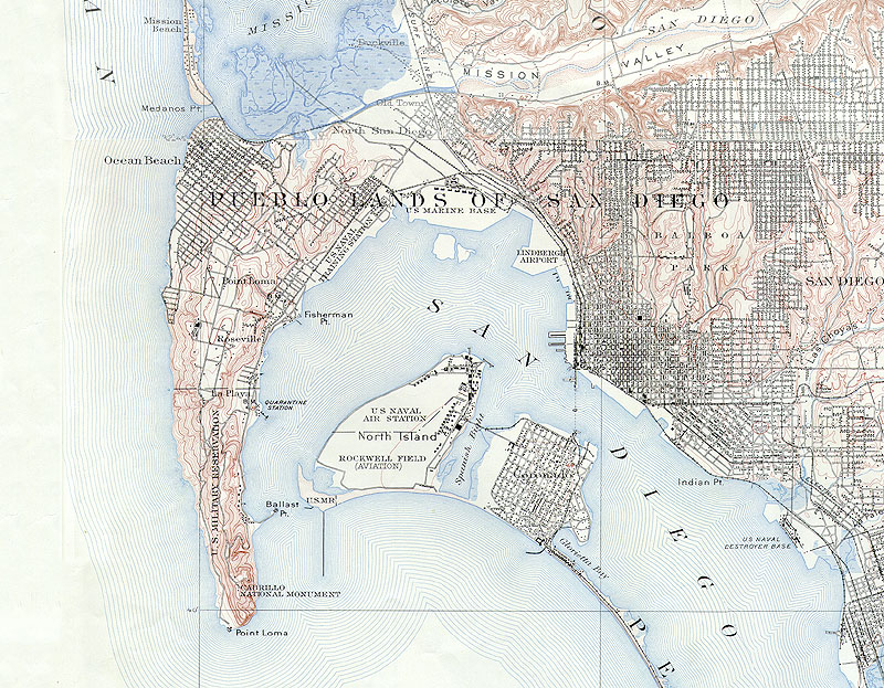 Naval Station San Diego Map.Military Bases In San Diego World War I 1914 1920