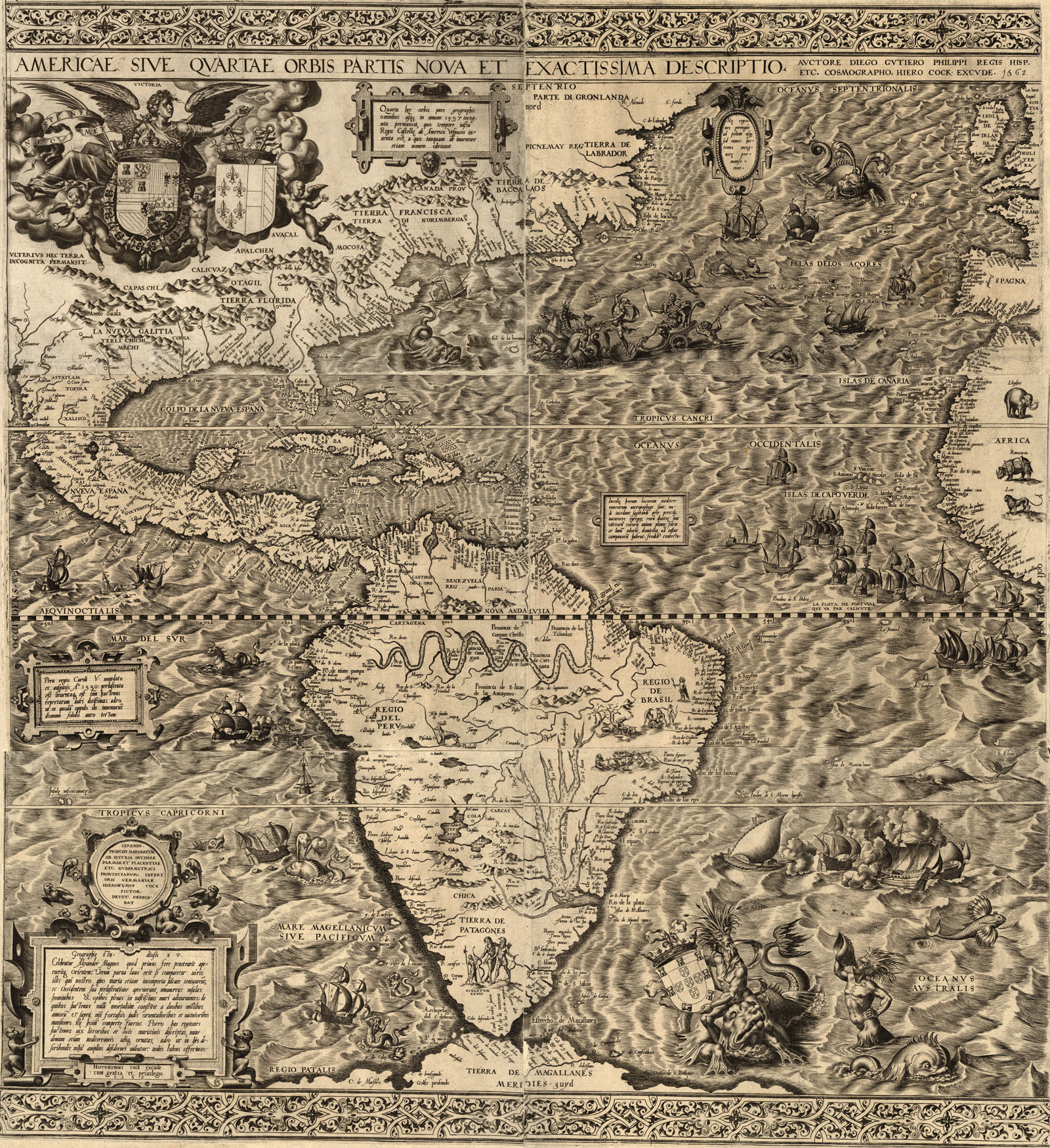 Maps Of Early Colonial America 1500s