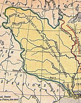 Map Of Us Globalinterco - Us map 1803