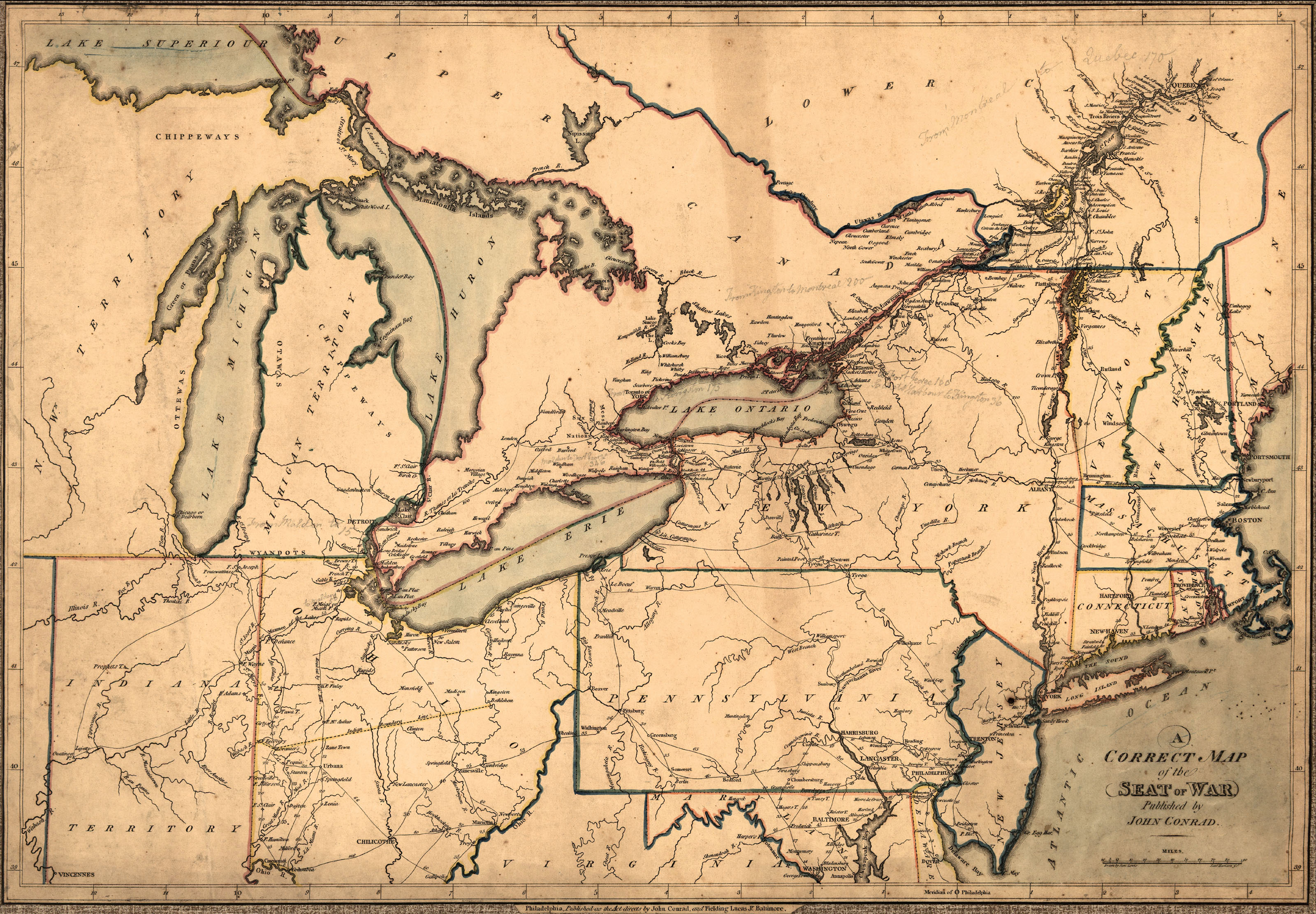 Maps Of Th Century America - Map of us in 1812