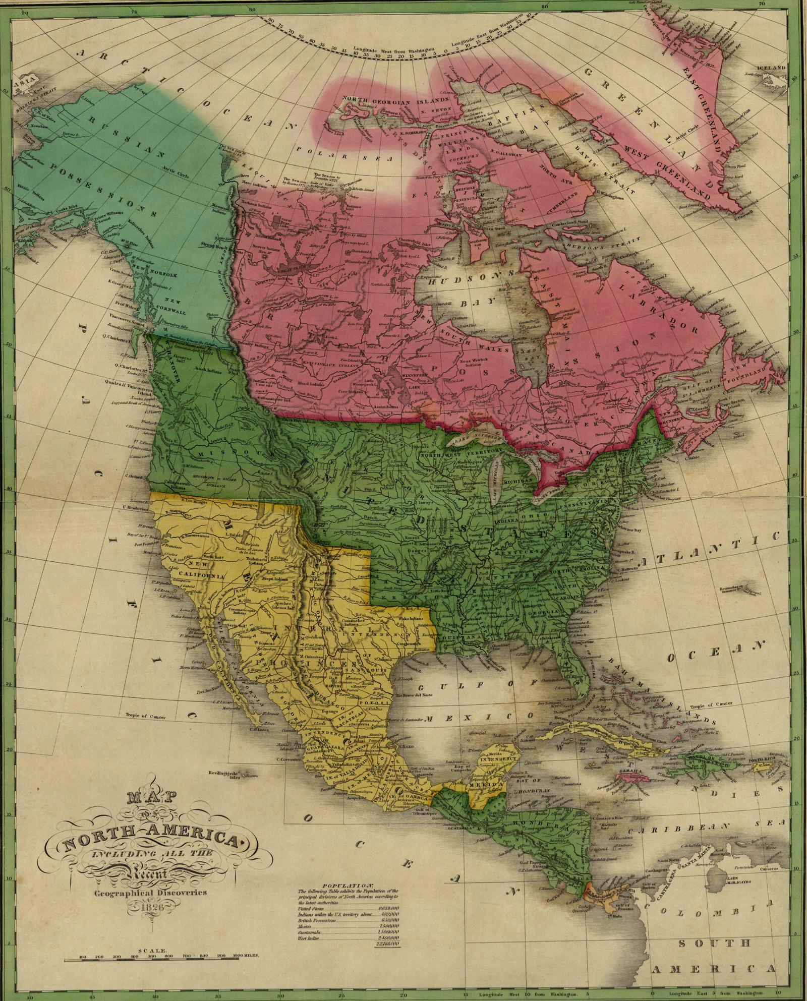 Maps Of Th Century America - Map of america 1860