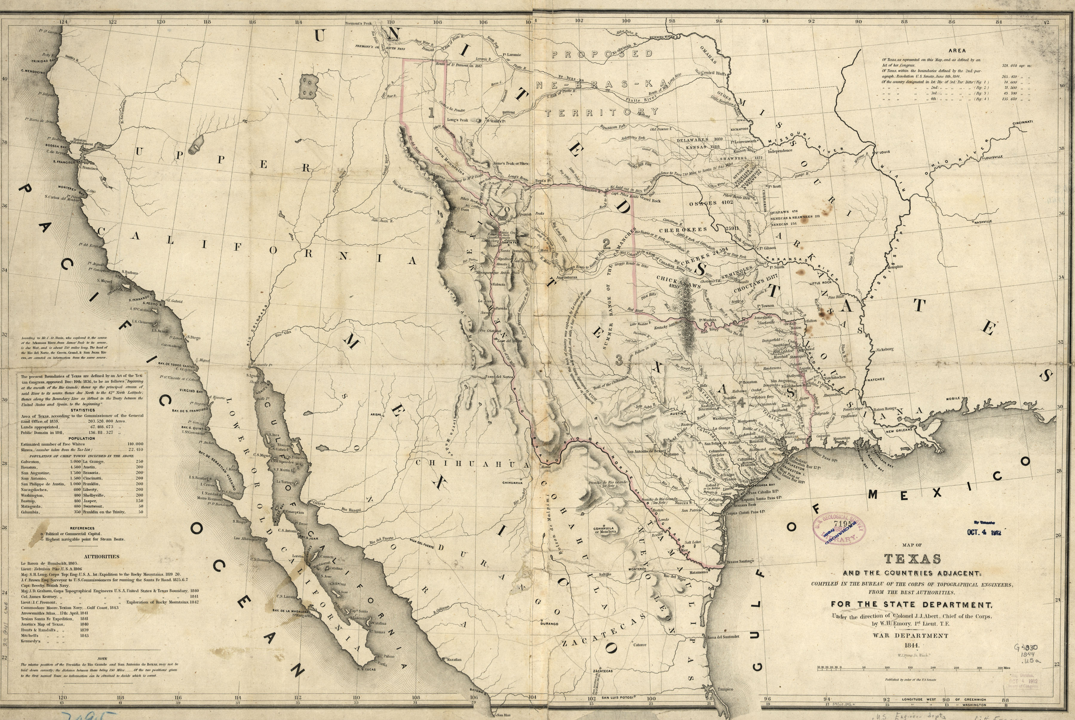Maps Of Th Century America - Us map 1847