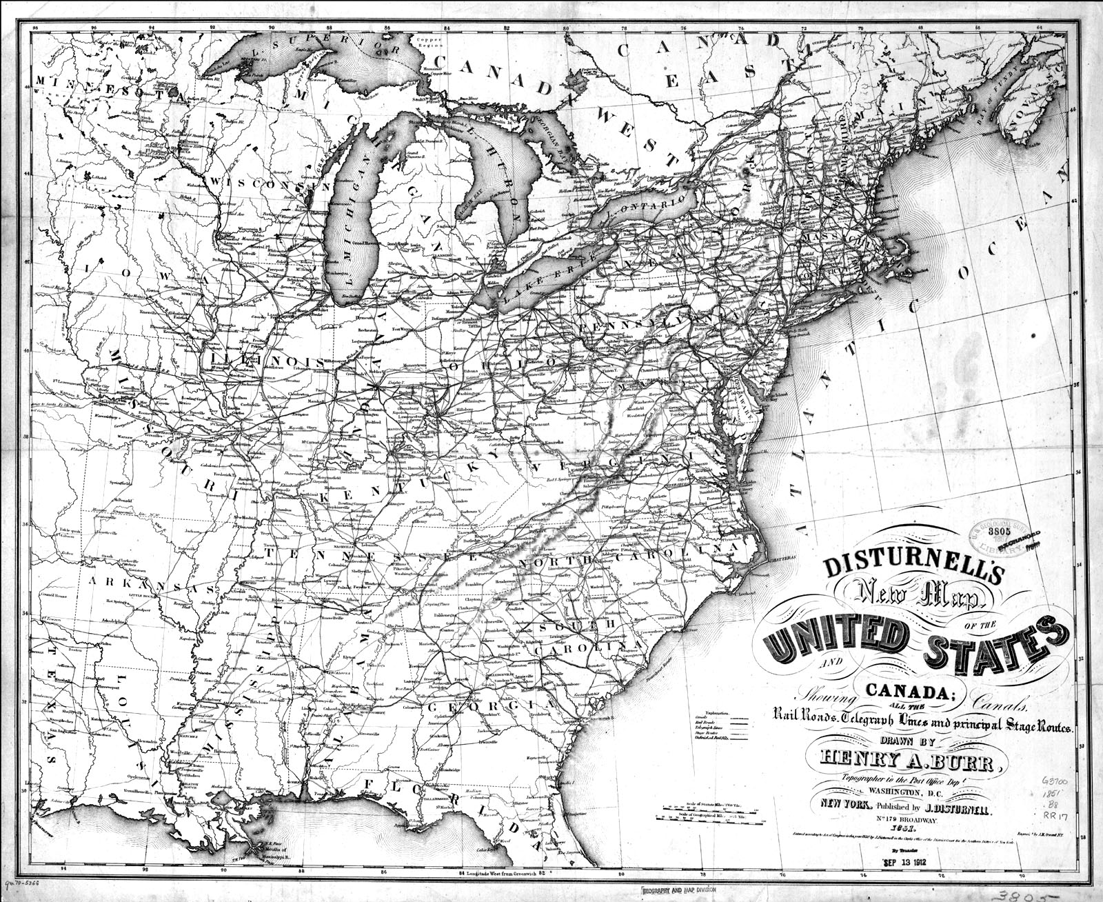 Maps Of Th Century America - Us in the 1800s map