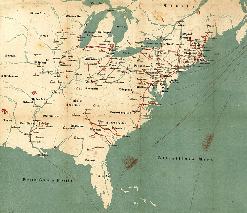 Maps Of Th Century America - Map of the us in 1853