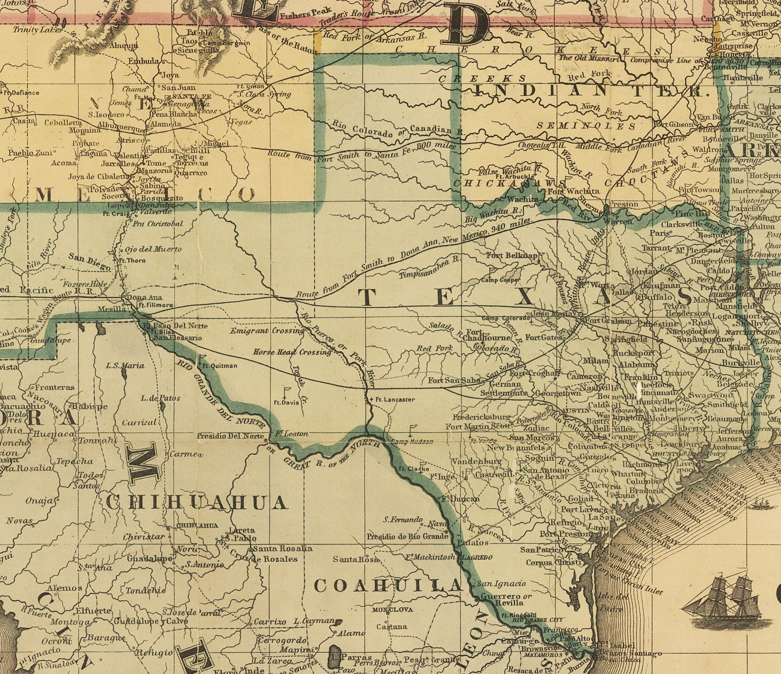 Map Of Texas In 1800.Maps Civil War