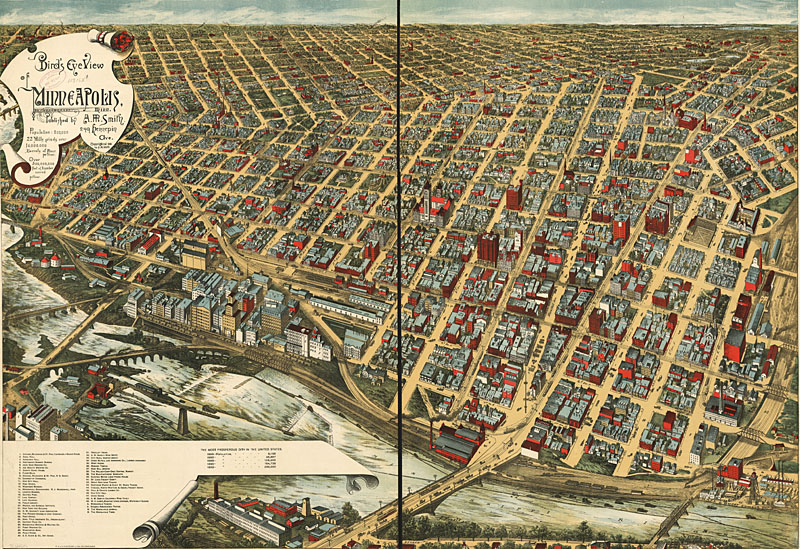 Minneapolis 1891 And Birdseye Maps From Lc