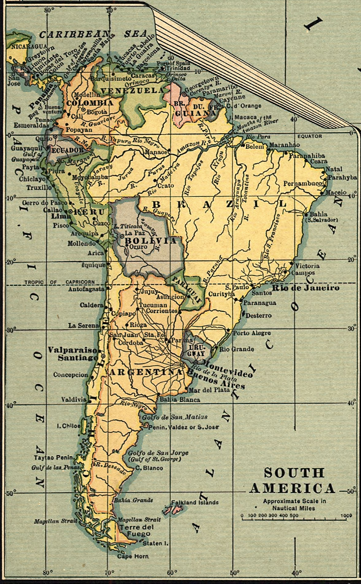 Map Of America 1900.Maps Of South America