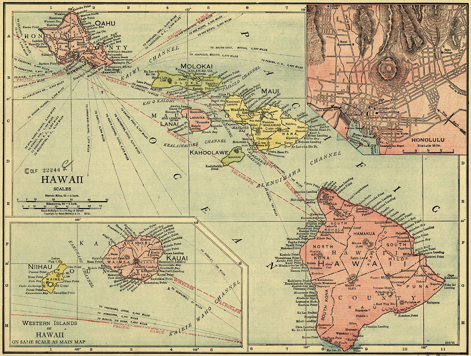 Old Maps Of Hawaii Island